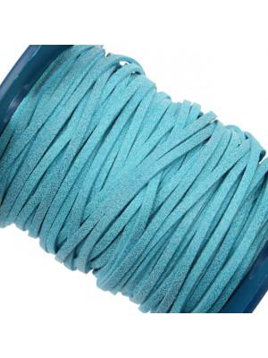 Alcantara, spessore 1,4x3 mm, colore Azzurro Glitter