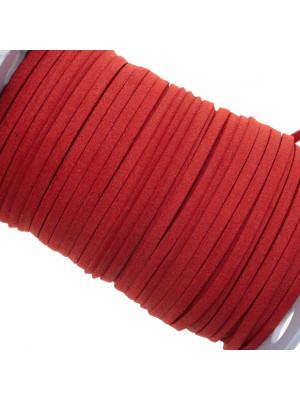 Alcantara, spessore 1,4x3 mm, colore Rosso