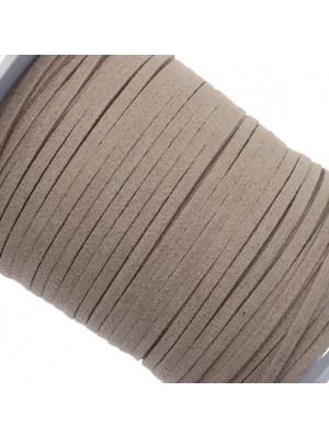 Alcantara, spessore 1,4x3 mm, colore Grigio Tortora