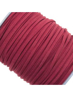 Alcantara, spessore 1,4x3 mm, colore Rubino