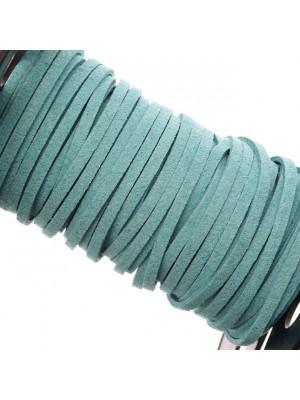 Alcantara, spessore 1,4x3 mm, colore Acqua Scura