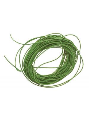 Cordoncino in cotone cerato, spessore 0,8 mm, colore Verde prato