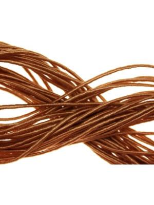Cordoncino rivestito in viscosa, spessore 1 mm, colore Ecru