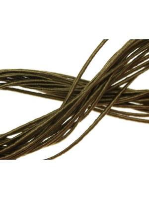 Cordoncino rivestito in viscosa, spessore 1 mm, colore Verde oliva