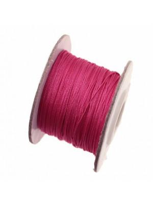 Filo di nylon, spessore 0,5 mm., per infilare perle, colore FUCSIA
