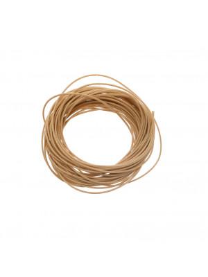 Filo di nylon, spessore 0,5 mm., per infilare perle, colore NOCCIOLA