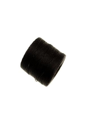Super-Lon Bead Cord, spessore 0,6 mm., colore NERO