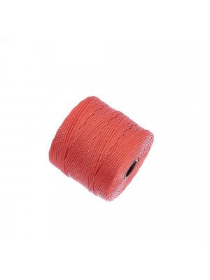 Super-Lon Bead Cord, spessore 0,6 mm., colore CORALLO