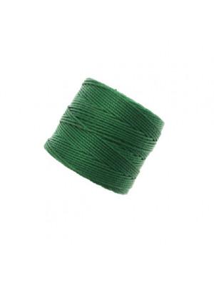 Super-Lon Bead Cord, spessore 0,6 mm., colore VERDE SMERALDO