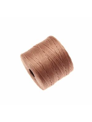 Super-Lon Bead Cord, spessore 0,6 mm., colore BEIGE ROSATO SCURO