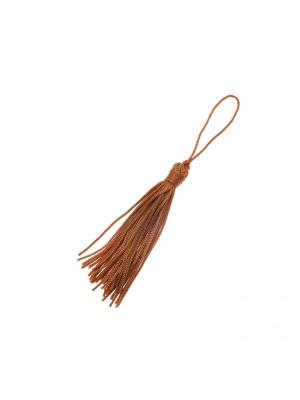 Nappina in cordoncino acrilico, lunga 6,5 cm. circa, colore Nocciola