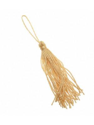 Nappina in cordoncino acrilico, lunga 7,5 cm. circa, colore Crema