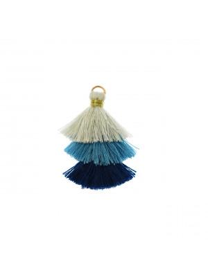 Nappina in cotone, lunghezza 35 mm., colore AZZURRO CHIARISSIMO - AZZURRO - BLU