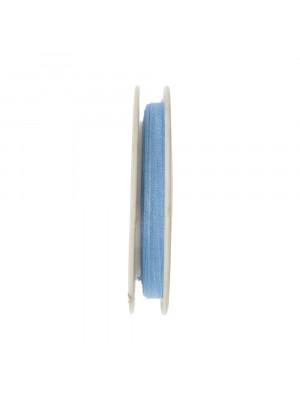 Organza, alta 6 mm., colore Azzurro