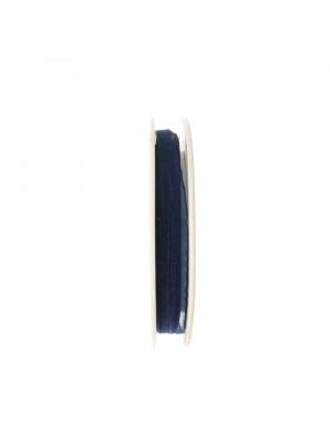 Organza, alta 6 mm., colore Blu scuro