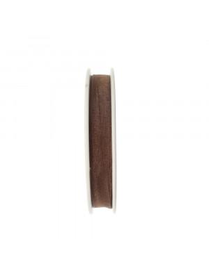 Organza, alta 10 mm., colore Marrone Fumè