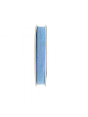 Organza, alta 10 mm., colore Azzurro