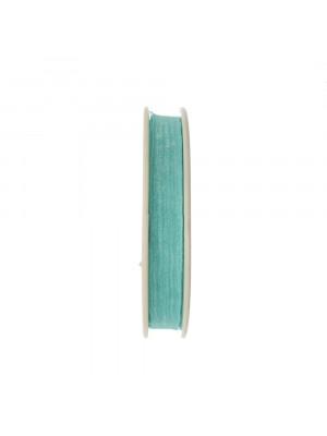 Organza, alta 10 mm., colore Azzurro Acqua