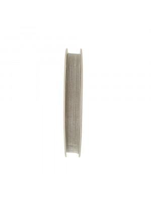 Organza, alta 10 mm., colore Grigio Chiaro