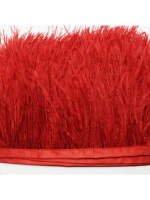 Passamaneria con Piume, altezza 10-12 cm., colore ROSSO