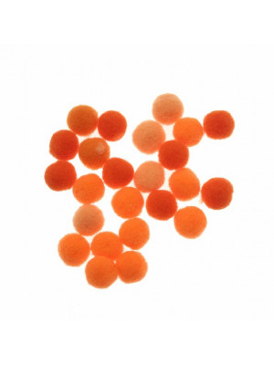 Pon Pon in nylon, diametro 10 mm., colore MULTICOLOR ARANCIONE