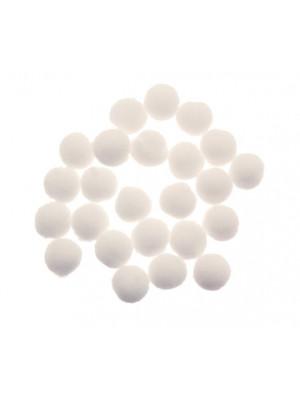 Pon Pon in nylon, diametro 10 mm., colore BIANCO GESSO
