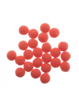 Pon Pon in nylon, diametro 10 mm., colore ROSA SCURO