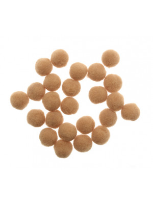 Pon Pon in nylon, diametro 10 mm., colore NOCCIOLA