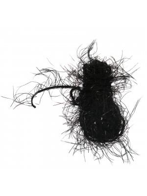 Filo sintetico con ciuffi colore NERO