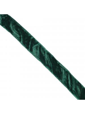 Nastro, in Velluto Effetto Stropicciato, alto 16 mm., colore Verde Smeraldo
