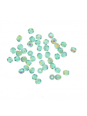 Mezzi cristalli da 4 mm. color Verde erinite brillante AB