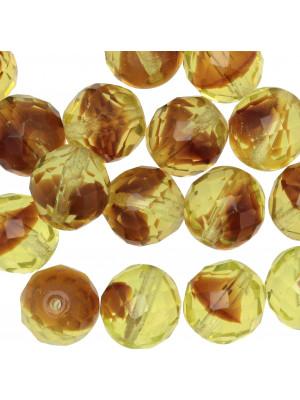 Mezzo cristallo colore Verde chiarissimo lime sfumato in marrone