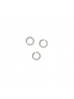 Anellino tondo aperto 4,5x1,1 mm. in Argento 925