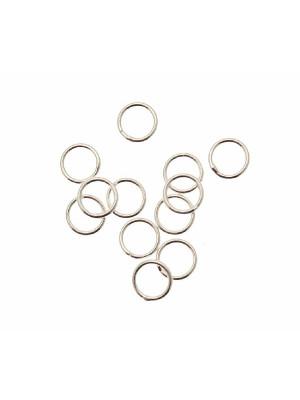 Anello tondo chiuso diametro 8x1 mm. in Argento Lucido 925