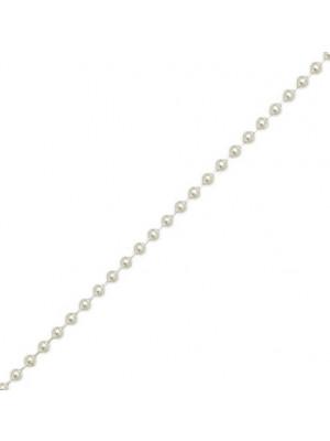 Catena a palline, spessore 1,5 mm., in Argento Lucido 925
