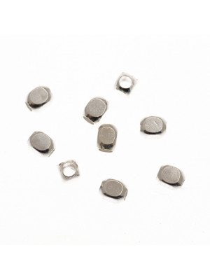 Cubo smussato 2,3x3,1 mm. in Argento Lucido 925