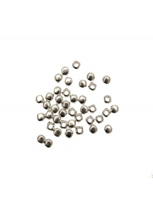 Cubo smussato 3,5x3,9 mm. in Argento Lucido 925