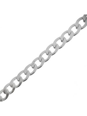 Catena grumetta piatta, in alluminio, dimensione anello 16x11 mm.