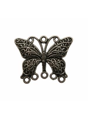 Base per orecchino a forma di farfalla, larga 34 mm., lunga 28 mm.