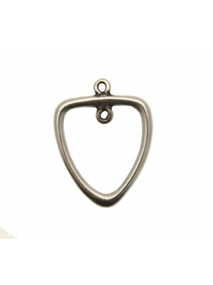 Base per orecchino a forma di triangolo liscio bombato, largo 27 mm., lungo 35 mm.