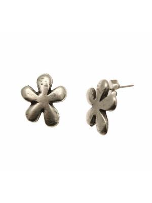 Perno a forma di fiore pieno, largo 15 mm., lungo 18 mm., senza anellino