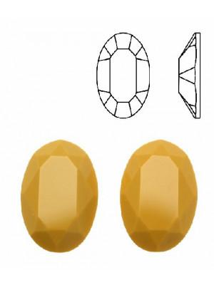 Cabochon ovale sfaccettato, in cristallo, colore GIALLO OPACO