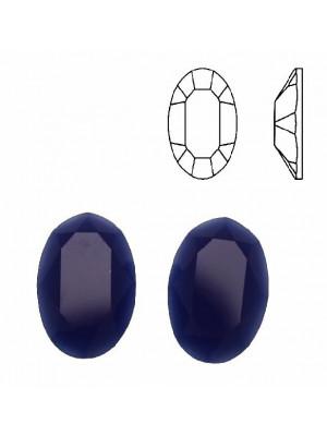 Cabochon ovale sfaccettato, in cristallo, colore BLU ELETTRICO OPALE