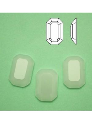 Cabochon rettangolare sfaccettato, in cristallo, colore BIANCO OPALE