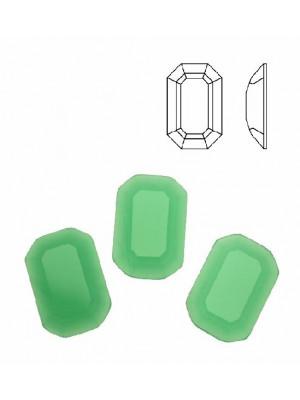 Cabochon rettangolare sfaccettato, in cristallo, colore VERDE OPALE