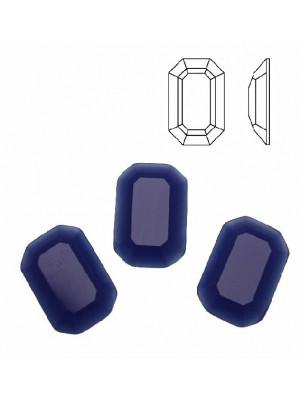 Cabochon rettangolare sfaccettato, in cristallo, colore BLU ELETTRICO OPALE