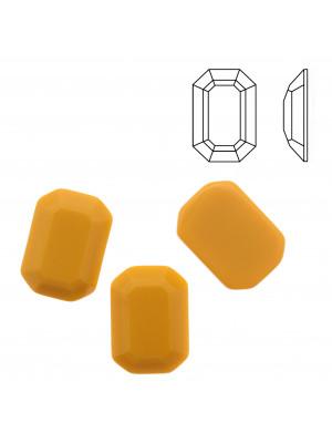 Cabochon rettangolare sfaccettato, in cristallo, colore SENAPE