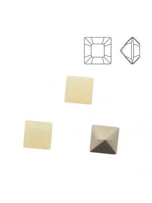 Gemma quadrata, in cristallo, colore SAND OPAL
