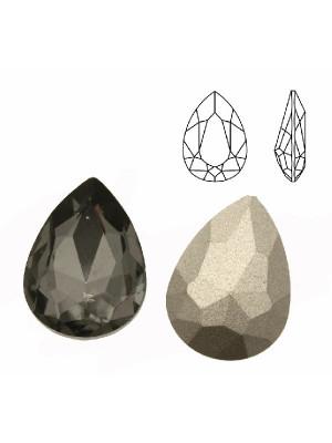 Gemma a goccia sfaccettata, in cristallo, colore BLACK DIAMOND