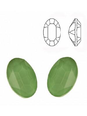 Gemma ovale sfaccettata, in cristallo, colore VERDE CHIARO